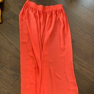 American Apparel Sheer Orange Maxi Skirt